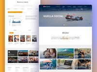 Huella Social Website design