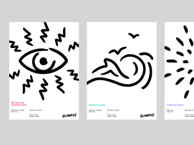 Glimpse Posters illustration branding poster minimal design