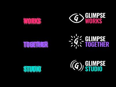 Glimpse Subbrands iconography icon typography logo branding vector design