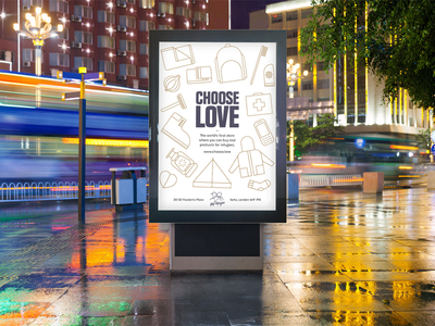Choose Love ads iconography icons advertisement ad poster illustration graphic design design choose love