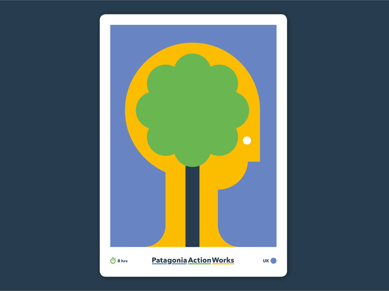 Become Carbon Literate poster art poster postcard trees brain thought idea tree illustrator art minimal vector design illustration