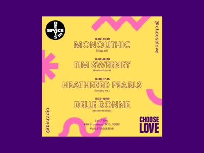 Choose Love Instagram Poster: BeatsinSpace