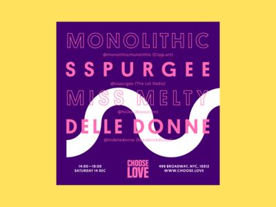 Choose Love Instagram Poster: Monolithic