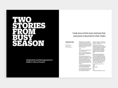 Type@Cooper West type layout magazine spread print typography