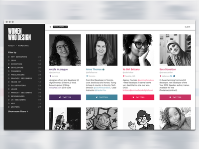 Women Who Design web design development