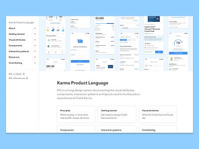 KPL documentation documentation design systems