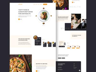 Foodfy Food Landing Page