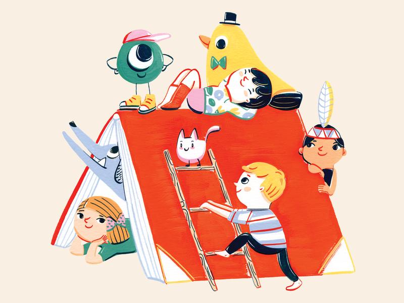 Glöw Libros books kids illustration kids colors scenery branding design illustration