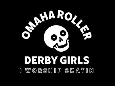 Omaha Roller Derby skatin skulls illustration design omaha branding roller derby