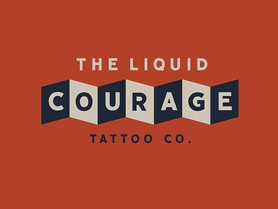 Liquid Courage Tattoo Co. retro vintage omaha identity branding illustration tattoo design tattoo shop tattoo