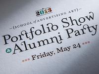saa 2013 Portfolio Show Invitation