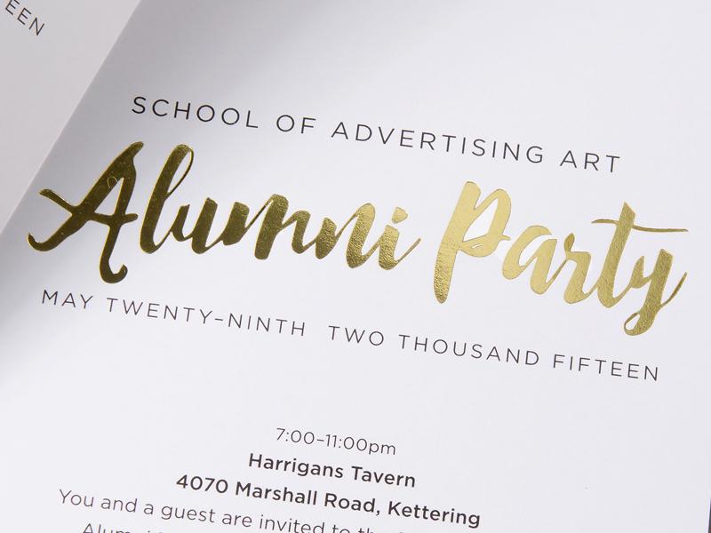 2015 saa alumni party invitation by matthew flick dribbble stopboris Images