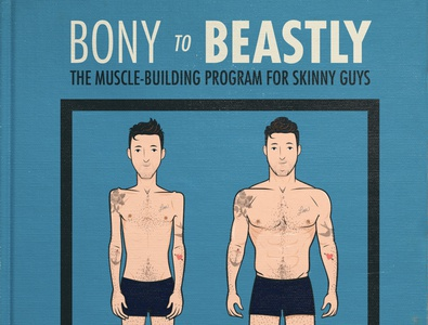 Bony to beastly cover illustration bulking building muscle