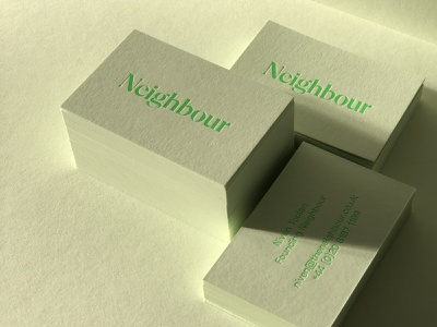 Neighbour — by Parent® design agency real estate logo typography brand agency brand design branding brand businesscard