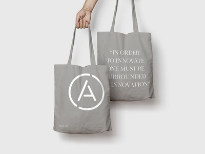 Tote Bag - Brand identity design for Agilita logo design typography branding