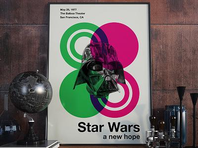 Star Wars - Swiss Style star wars movie swiss-style swiss poster typography design art