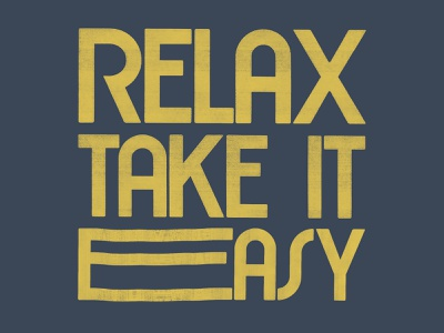 Relax relax traditional graphic design design color branding illustration typography