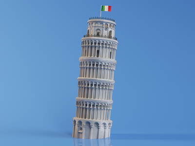 I as Italy illustration c4d octane c4dart 3d graphic design octanerender creative cinema4d