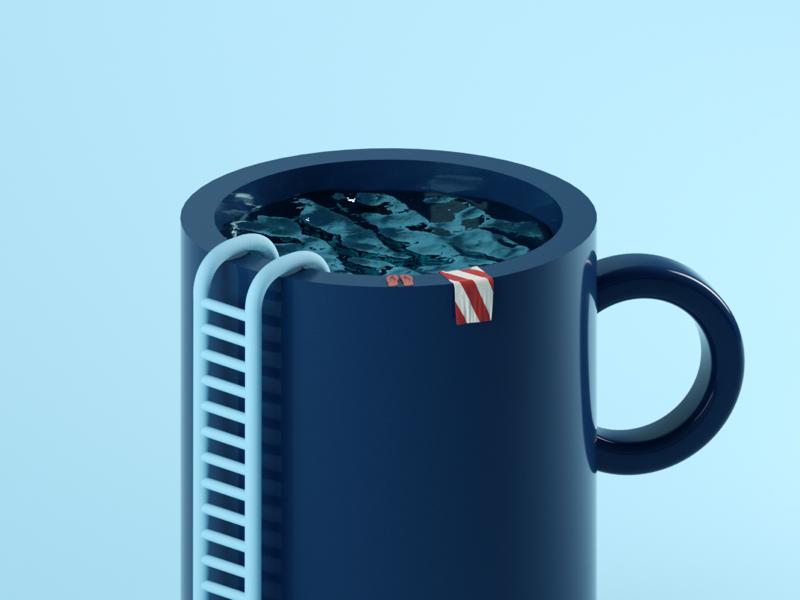 POOL MUG pool mug c4d art 3d octane