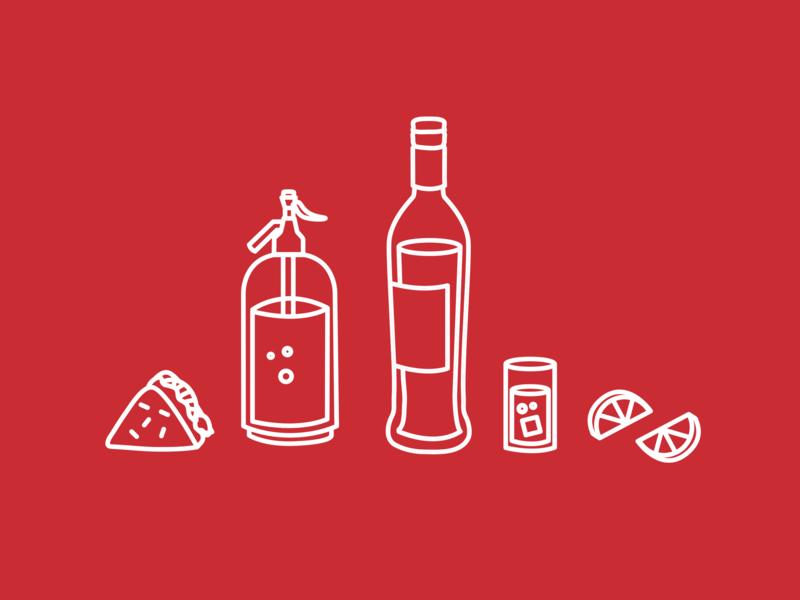 Belgrano // Café - Birra - Vermú icon set branding design brand design branding