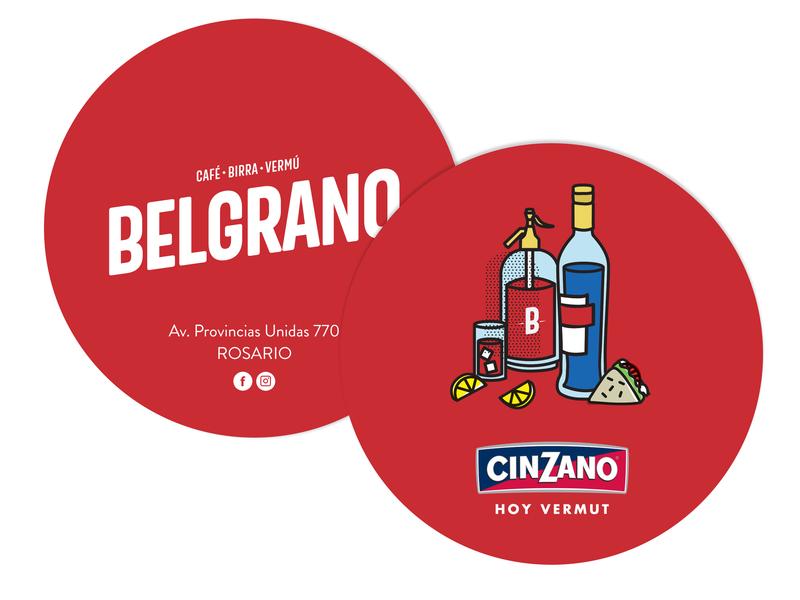 Belgrano // Café - Birra - Vermú vermouth coaster design bar branding