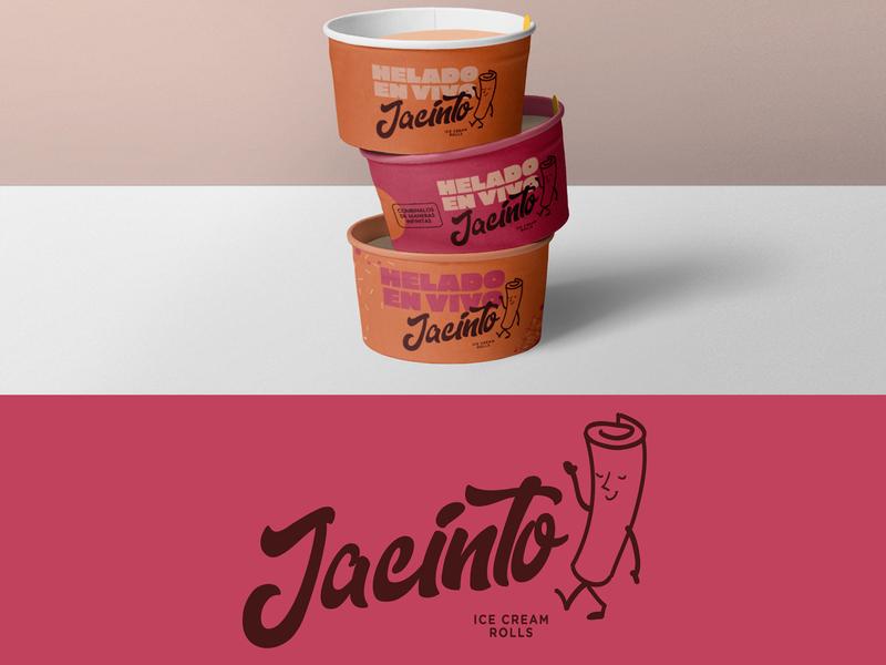 Ice cream rolls / Jacinto icecream logodesign logotype concept art identity designer identity design brand identity brand design branding