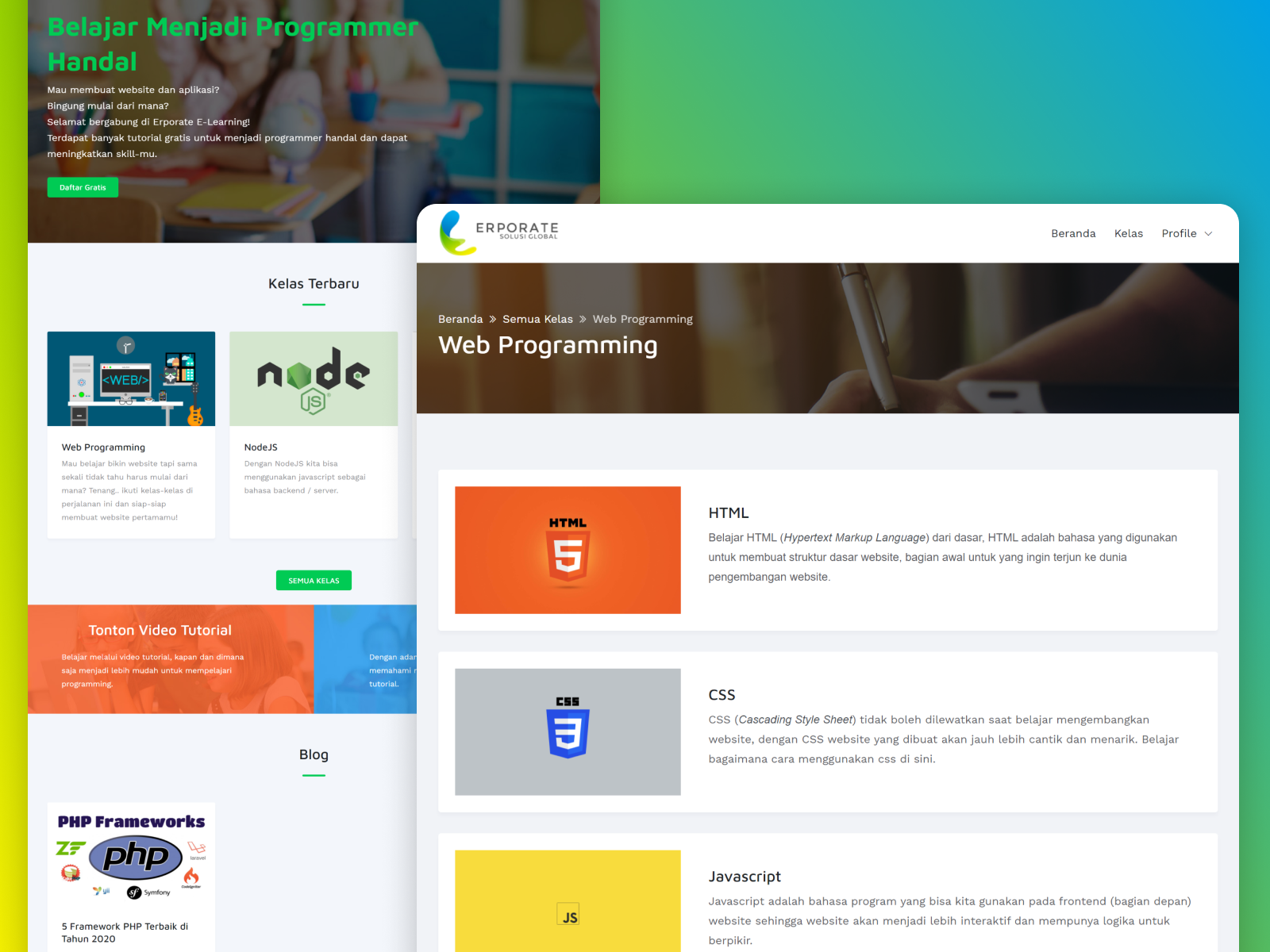 Erporate E Learning Website By Muhammad Iqbal On Dribbble
