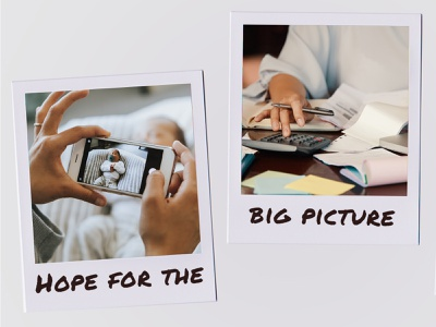 Hope for the Big Picture composition design advertising