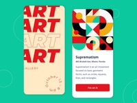 Art Gallery - Mobile app concept