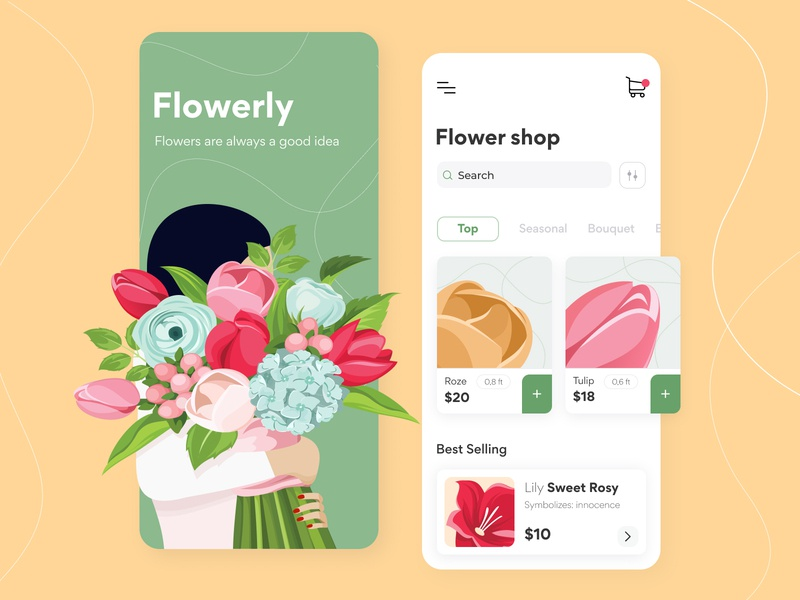 Flowerly - Mobile app concept