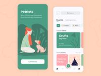 Petriots - Mobile app concept