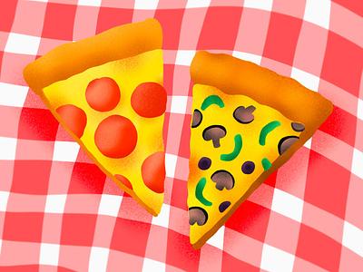 Procreate Pizza Slices sketch design texture illustration procreate food pizza slice slice pizza