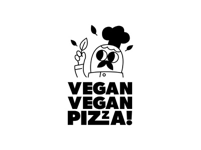 Vegan Vegan Pizza Brand design illustration pizza menu pizza box logo pizza logo brand pizza vegan