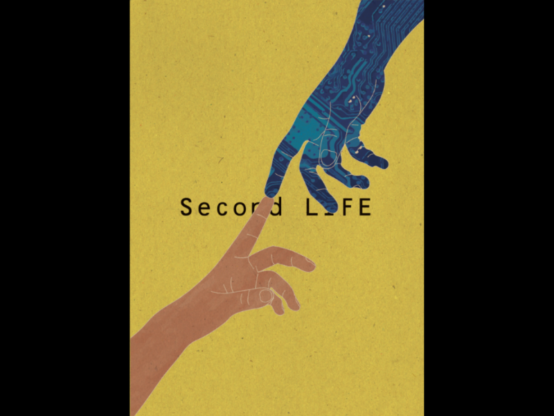 Second Life poster hands technology secondlife