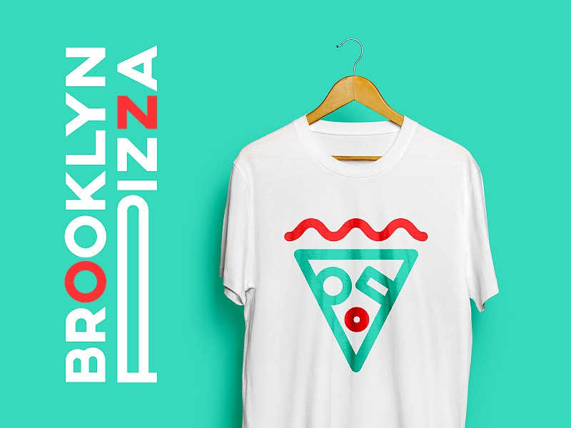 Brooklyn Pizza type concept identity logo pizza