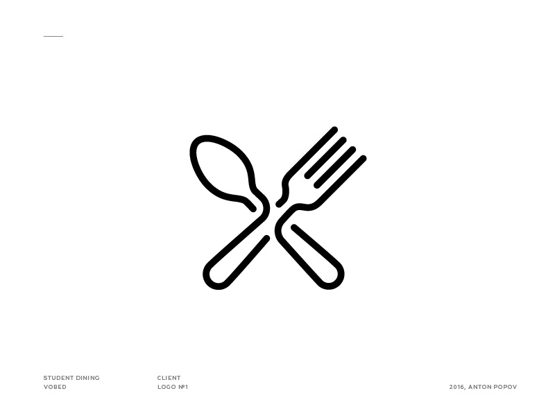 Fork & spoon icon line canteen spoon fork cafe icon logo