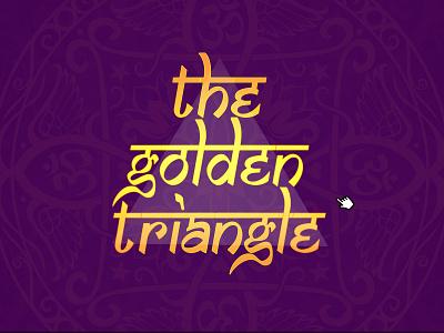 The Golden Triangle brand design brand identity illustration ux app uidesign ui user interface vector design