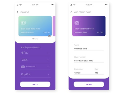 Daily UI 002 - Credit Card Checkout mobile app design mobile app mobile design mobile ui app appdesign uiux user interface design ui uidesign vector daily ui dailyui
