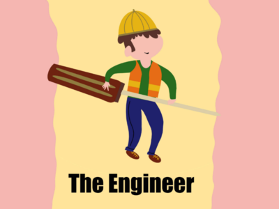 Flat Design - Character The Engineer illustration design drawing flat procreate