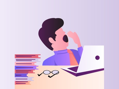Flat Design Character Office