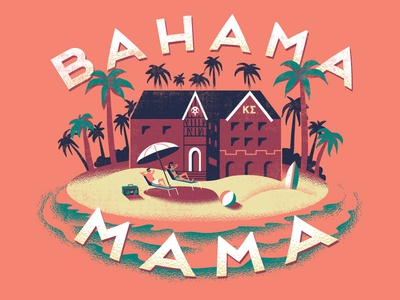 Bahama Mama fraternity island greek swimsuit caribbean tropical palm trees surf tanning water