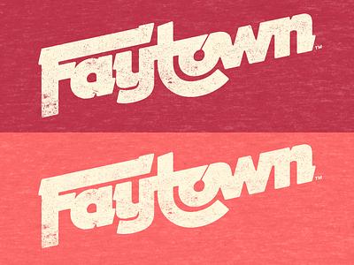Faytown ozarks arkansas fayetteville wordmark vintage typography oldretrotype logotype logo lettering design branding