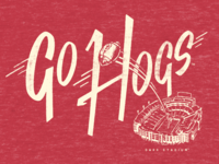 Go Hogs Natural Threads Tee