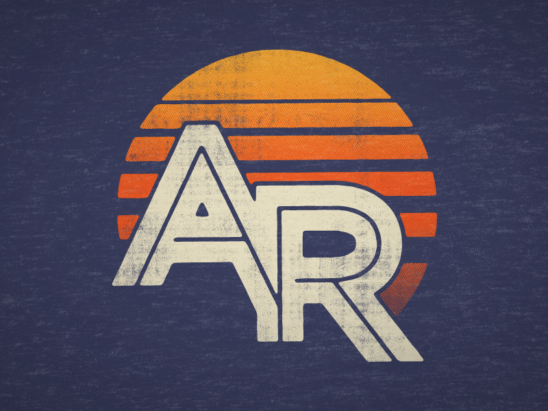 Sunrise AR type logotype monogram branding logo sunset sunrise sun arkansas