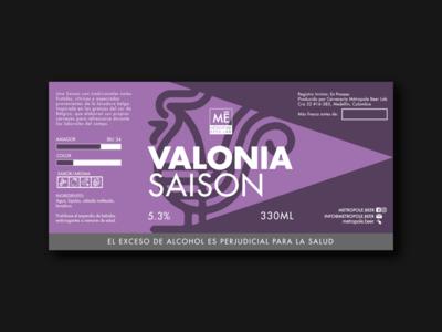 Valonia Saison   Metropole Beer Lab