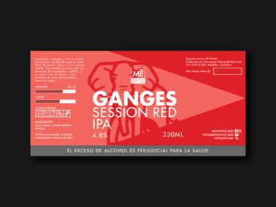 Ganges Session Red IPA   Metropole Beer Lab