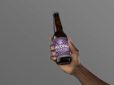 Label Mockup | Valonia Saison | Metropole Beer Lab brand design beer label design branding packaging label design beer label beer branding beer