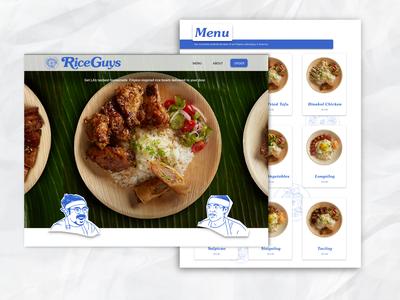 Rice Guys Restaurant Landing Page