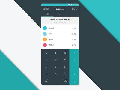 Daily UI 4 - Expense Splitting Calculator