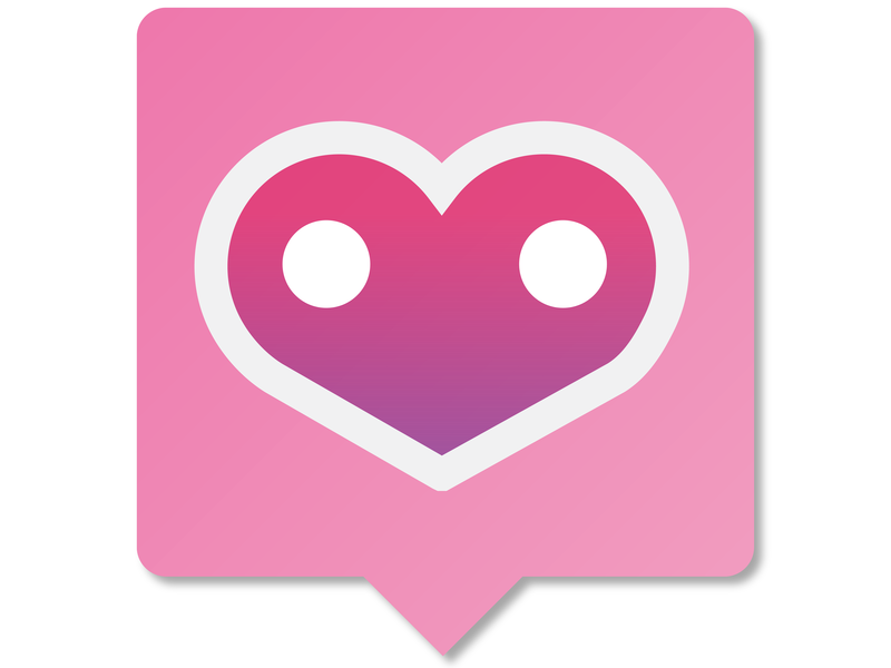 Touch of Heart App Logo clean outreach heart chat logo day 5 illustration dailyui